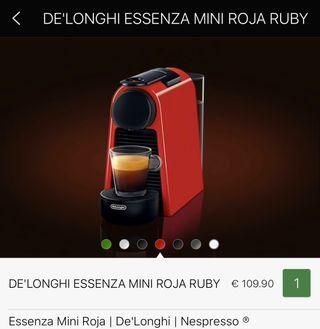 Cafetera Nespresso Essenza mini roja d' longui