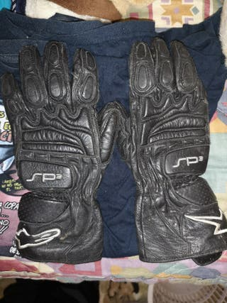 guantes de moto sin apenas uso