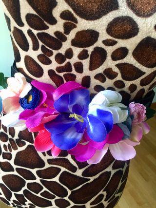 Cinturon elastico de flores