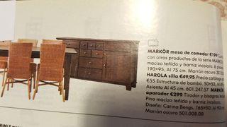 APARADOR Y MESA SALON IKEA