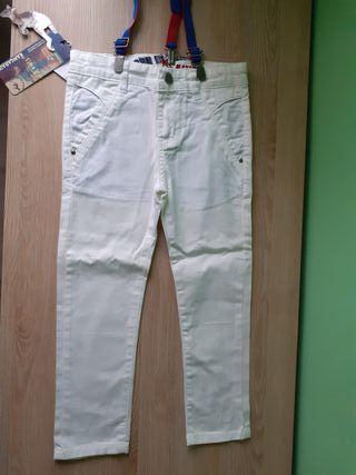 Pantalones blancos niño 4-5 años