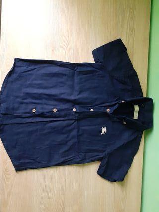 Camisa azul marino 4 años