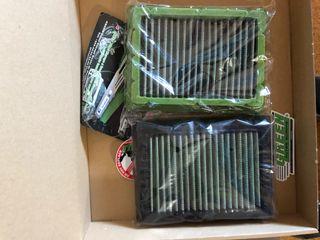 Green juego 2 Filtros aire deportivo de caja
