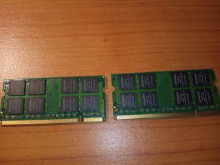 2 módulos de memoria RAM DDR2 1gb