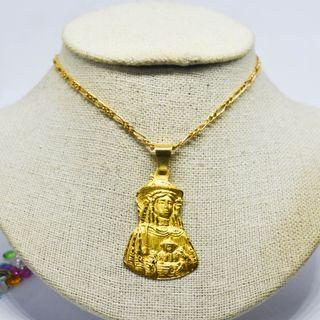 Medalla Virgen Divina Pastora, oro 18k