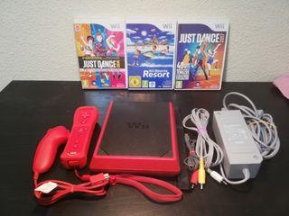 Wii mini con 3 juegos