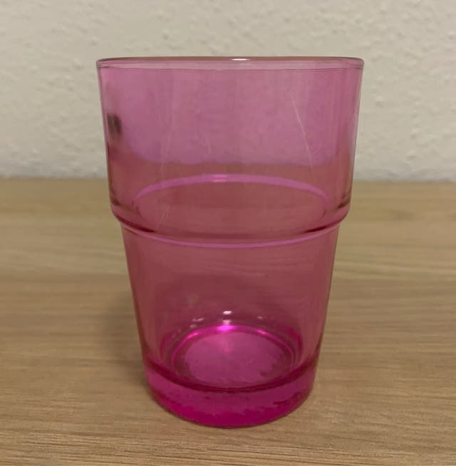 Vaso cristal rosa