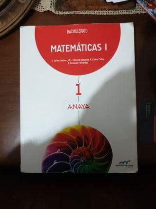 Libro de MATEMÁTICAS 1, 1°BACHILLERATO ANAYA