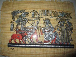 Papiro Egipto egipcio enmarcado marco