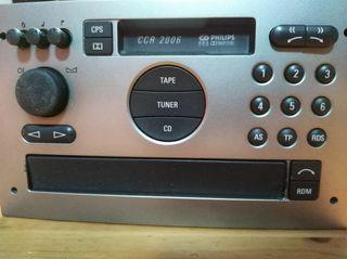 Radio CD con casete, vintage Philips