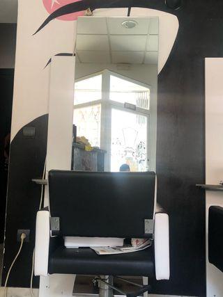 Sillon + tocador peluqueria
