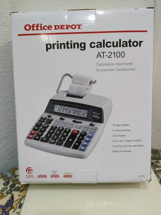 "CALCULADORA IMPRESORA AT-2100 ""OFFICE DEPOT"""