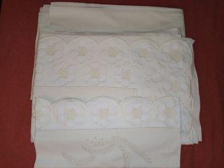 Juego de sábanas 100% algodón con bordado