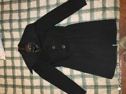 abrigo de paño negro mujer
