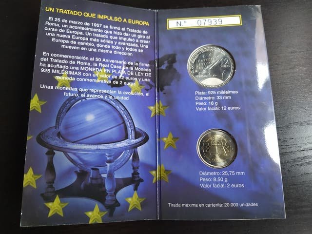 Cartera 2007 Moneda 12 euros Plata y 2 euros TDR