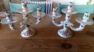 candelabros ceramica firmados