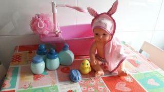 Bañera-ducha y bebe