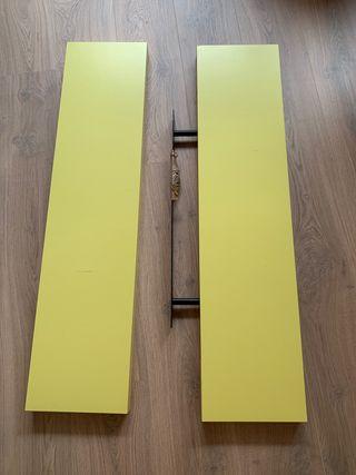 Estantes Lack de Ikea amarillos