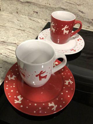Set de desayuno o merienda de Navidad