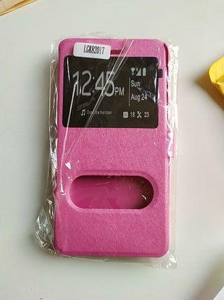 funda móvil LG K8 2017 rosa