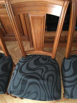 4 Sillas salón madera maciza