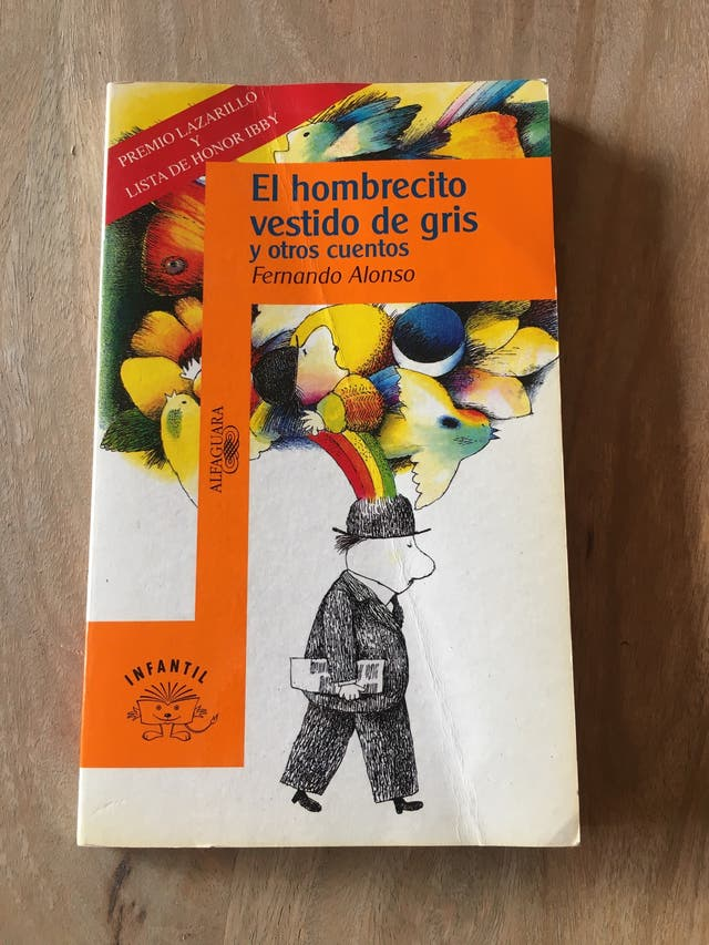 Libro infantil El hombrecito vestido de gris
