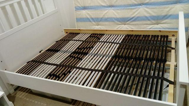 HEMNES bed frame and LEIRSUND Slatted bed - 135cm