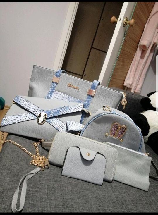 6pc women handbag set
