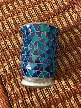 Vaso decoración para velas