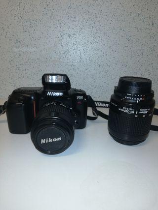 Cámara Analógica Reflex Nikon F 50 + 2 objetivos.