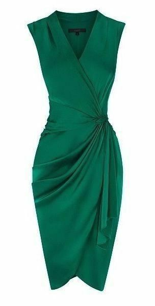 vestido cocktail/ fiesta verde Coast London 38-40