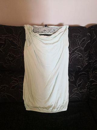 Camiseta larga lactancia sin mangas