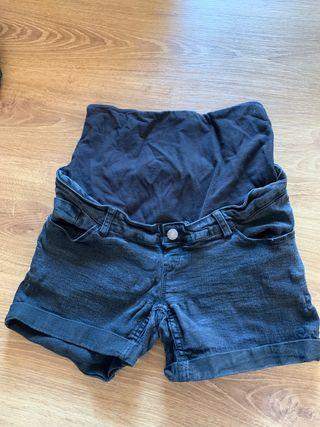 Pantalon corto negro premama