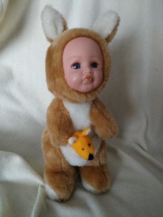 Peluche canguro con bebé Anne Geddes