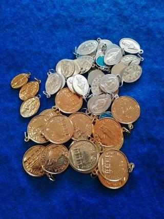 Lote medallas religiosas