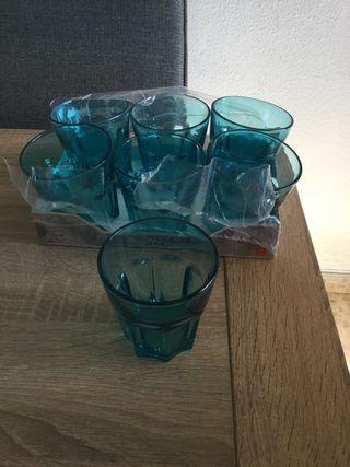 Vasos Cristal azul