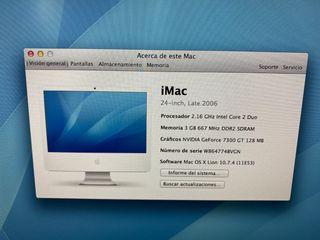 """Ordenador IMac 24"""" barato en perfecto estado"""