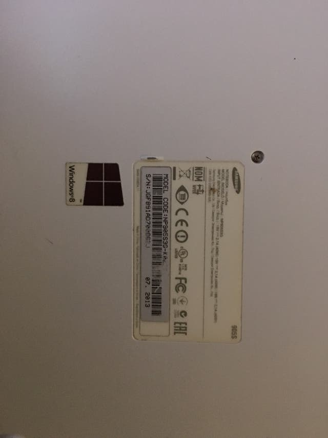 Ordenador portátil Samsung
