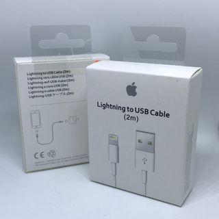 Cable 2m USB cargador iPhone iPad