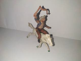 FIGURA VAQUERO con caballo ANTIGUA LAFREDO COWBOY