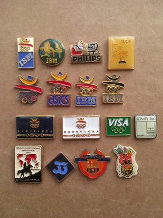 16 pins Olimpiadas Barcelona 92