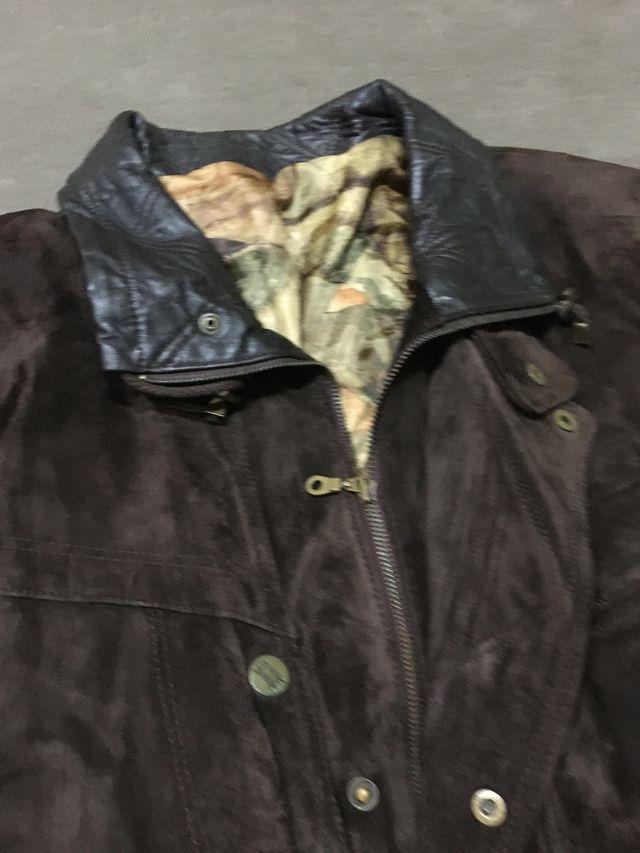 Abrigo piel hombre