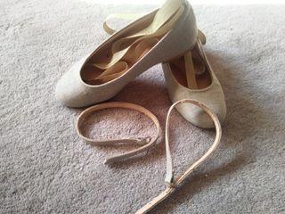 Zapatos de comunión talla 32 en color verde