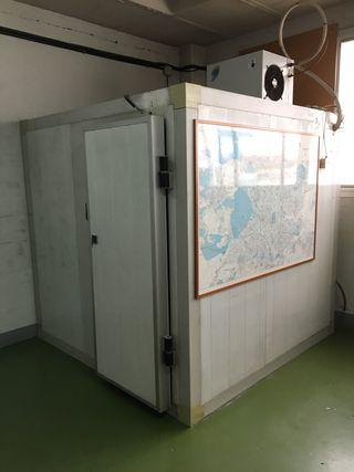 Cámara frigorífica para productos congelados.