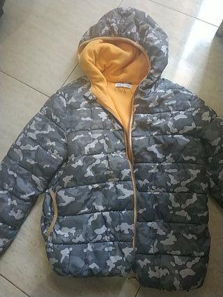 abrigo niño 6-8 años con forro polar y capucha