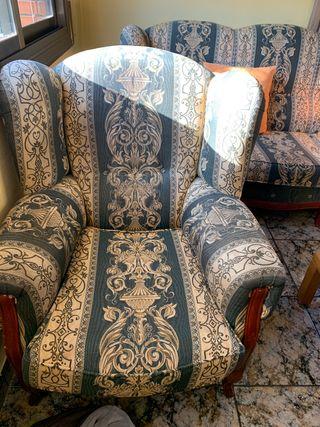 Sofá de dos plazas + butaca