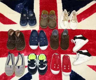 Lote de 10 zapatos t: 20 y 21