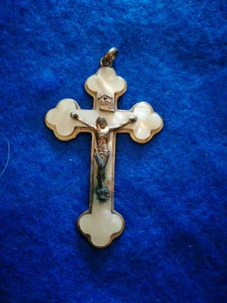 Antigua medalla religiosa