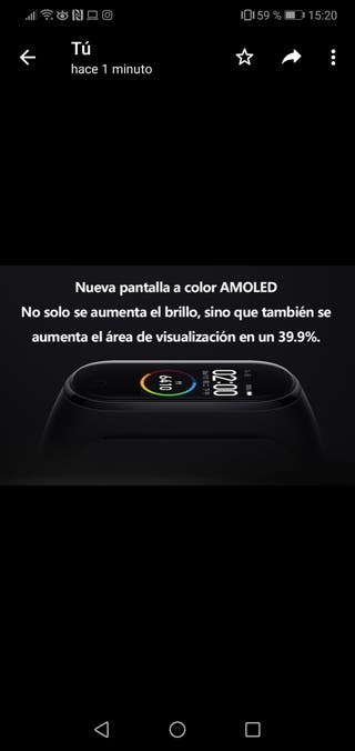 Xiaomi Mi Smart Band 4 Negra