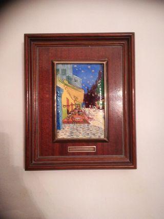 cuadro van Gogh esmaltado madera